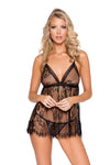 Elegant Eyelash Lace Babydoll with Panty - Intimates, Roma - YourLamode
