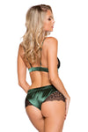 Satin Short Set with Lace Trim - Intimates, Roma - YourLamode