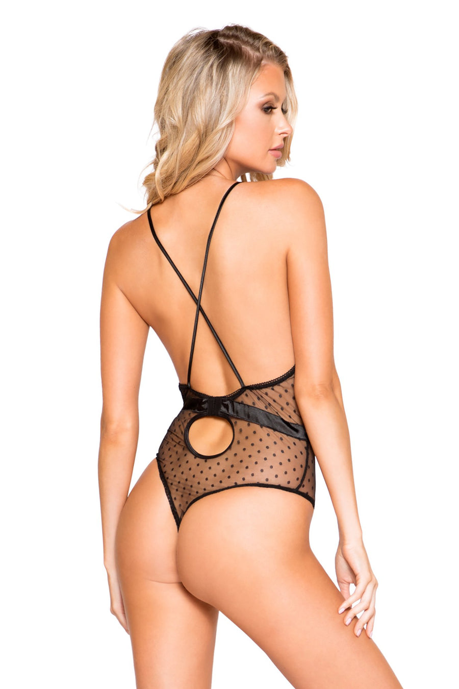 Satin & Lace Teddy with Snap Bottom - Intimates, Roma - YourLamode