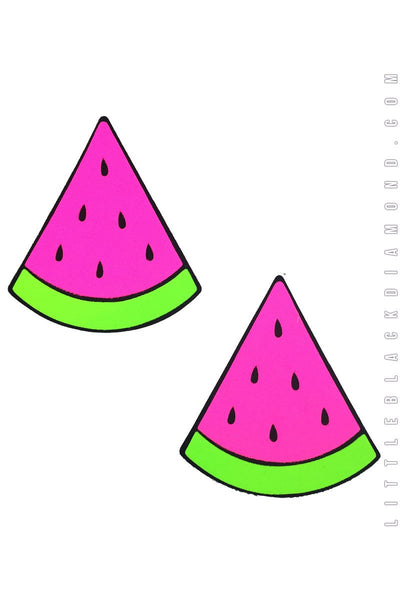 Watermelon Pasties in Neon Pink - Pasties, Little Black Diamond - YourLamode