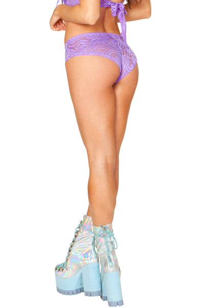 Lavender Cyclone Mesh Shorts - Rave Bottoms, J Valentine - YourLamode