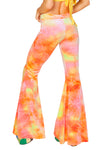 Sun Tie Dye Velvet Bell Bottom Pant - Rave Bottoms, J Valentine - YourLamode