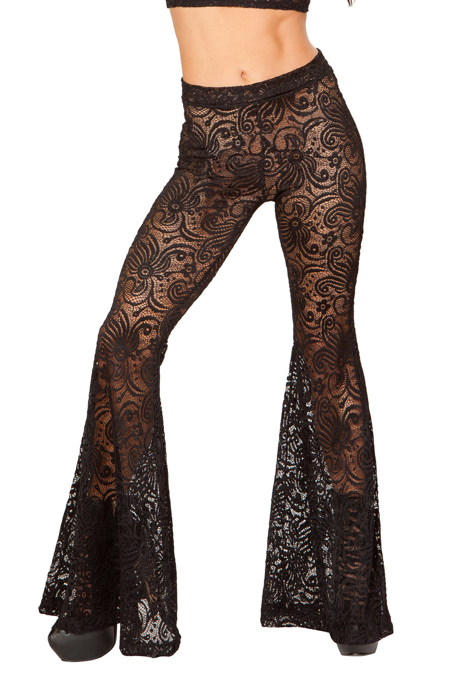 Black Cyclone Lace Bell Bottom Pant - FireFly Volume 3, J Valentine - YourLamode