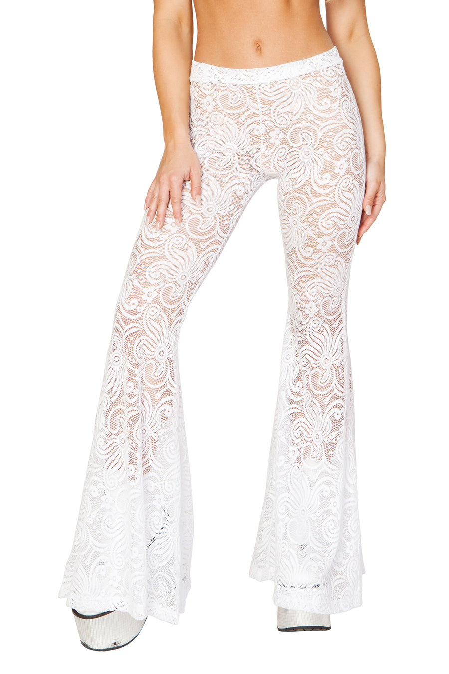 White Cyclone Lace Bell Bottom Pant - FireFly Volume 3, J Valentine - YourLamode