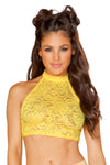 Sunshine Cyclone Lace Halter Top - Rave Tops, J Valentine - YourLamode