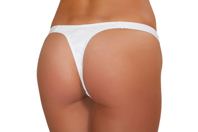 White Tricot thong - Rave Costume, J Valentine, YourLamode