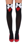 Thigh High Heart Stockings - Accessories, Roma - YourLamode