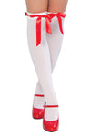 Thigh High Ribbon Weave Stockings - Accessories, Roma - YourLamode