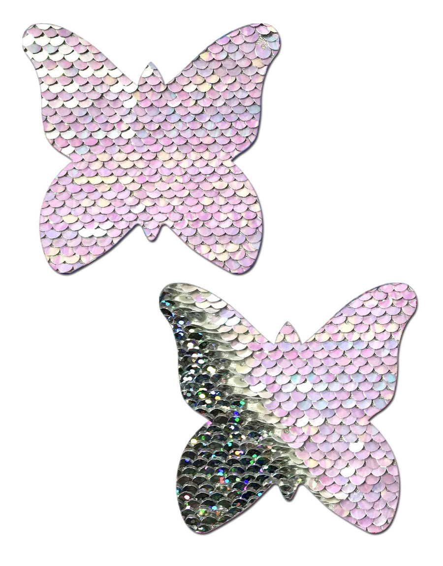 Monarch flip sequin pearl/silver