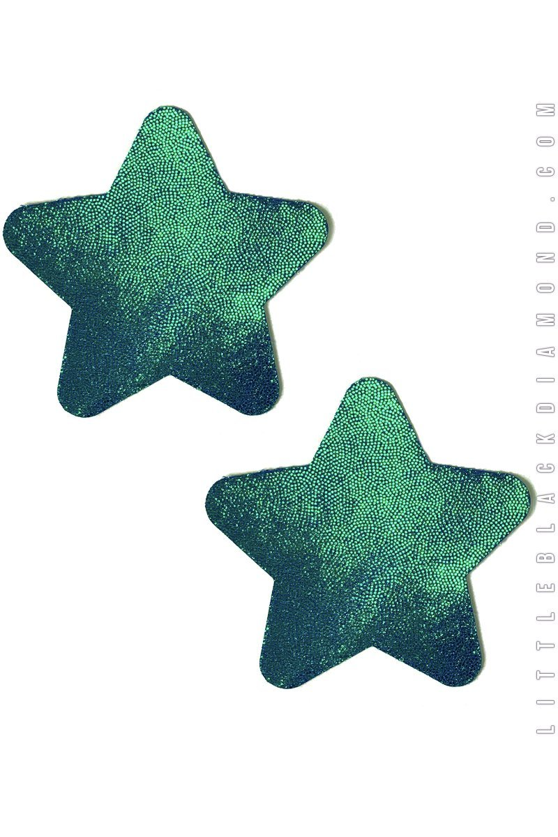 Star Pasties in Peacock - Pasties, Little Black Diamond - YourLamode