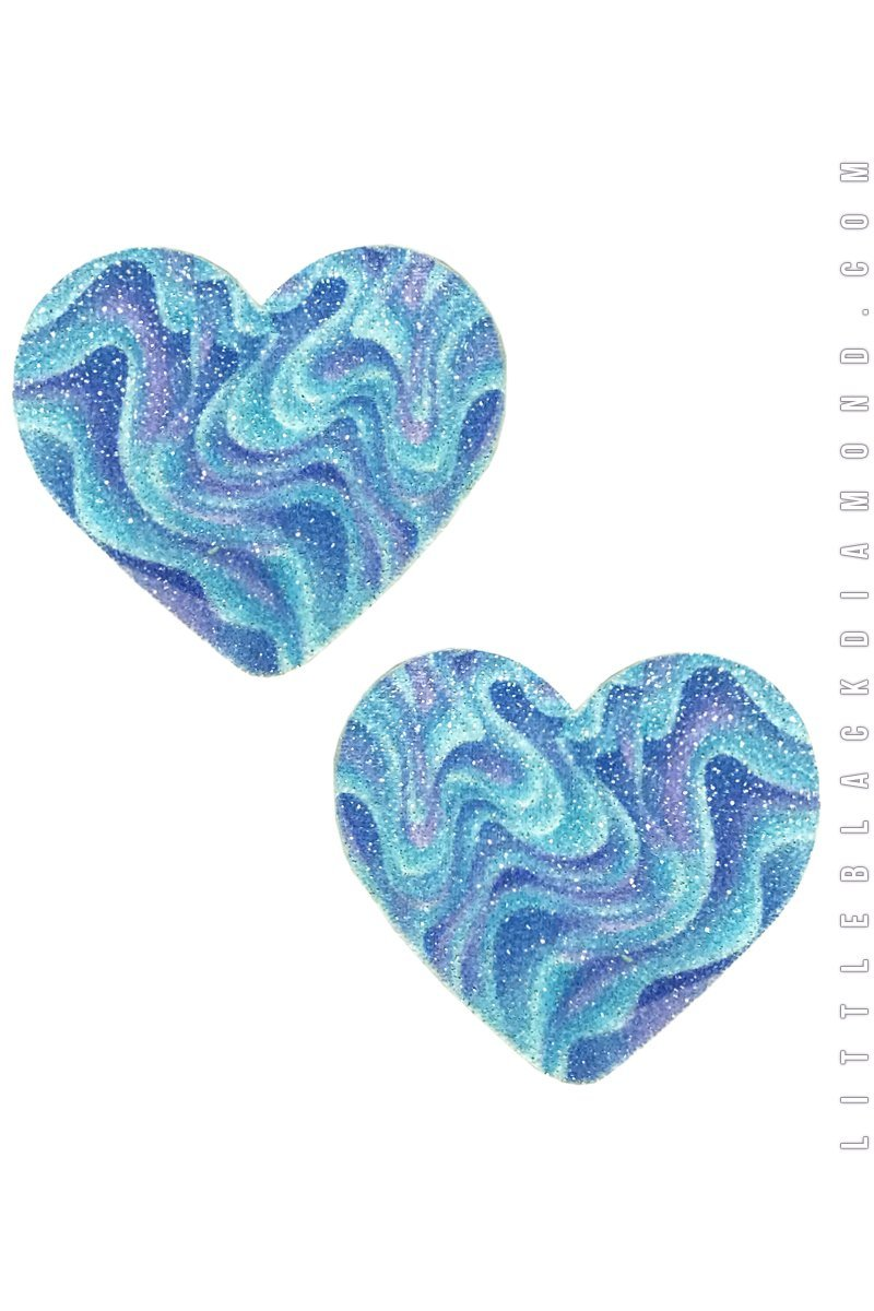 Heart Pasties in Vapor Wave