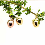 Gold apple charms in 9ct yellow and rose gold and 18ct Gold