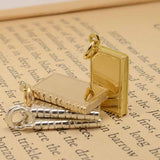 Gold Book Charms
