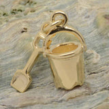 Bucket and Spade Charm in Gold