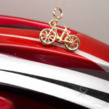 Gold Racing Bike Charm