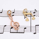 Yellow Gold and Rose Gold Music Charms