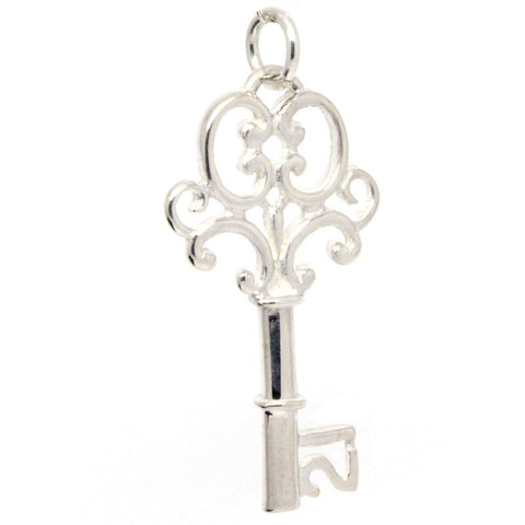 Silver 21st Birthday Key Charm