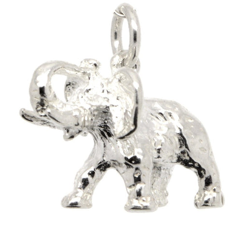 Silver African Elephant Charm