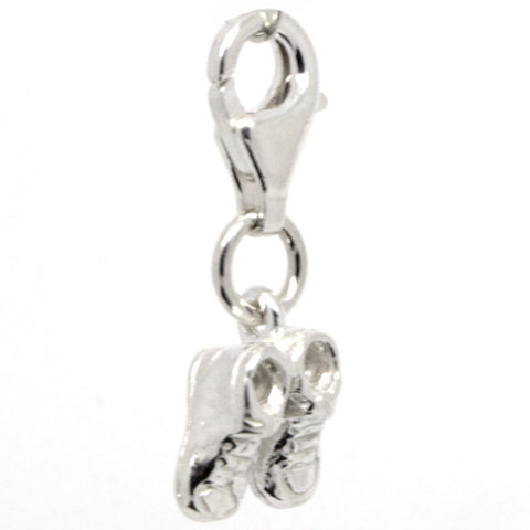 Silver Baby Bootees Charm