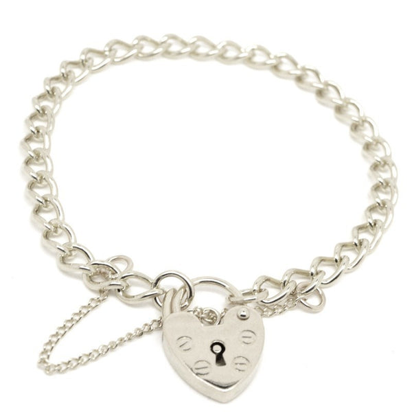 Child's curb charm bracelet with padlock - Perfectcharm - 1