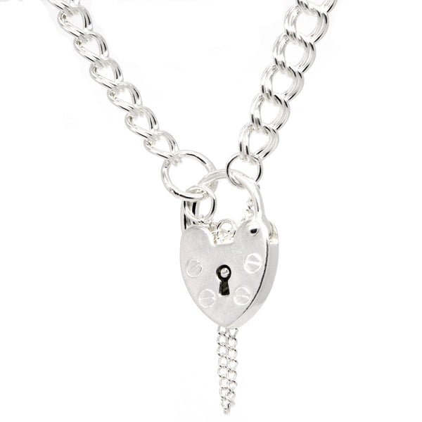 Child's Double Link Charm Bracelet with Padlock - Perfectcharm