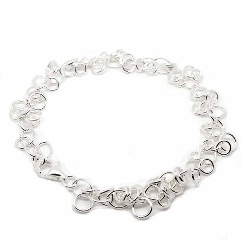 Silver Jingle Rings Charm Bracelet