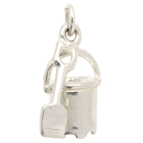 Silver Bucket And Spade Charm