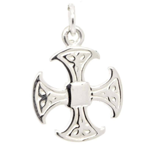 Silver Canterbury Cross Charm
