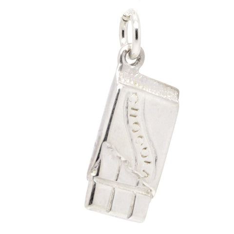 Silver Chocolate Bar Charm