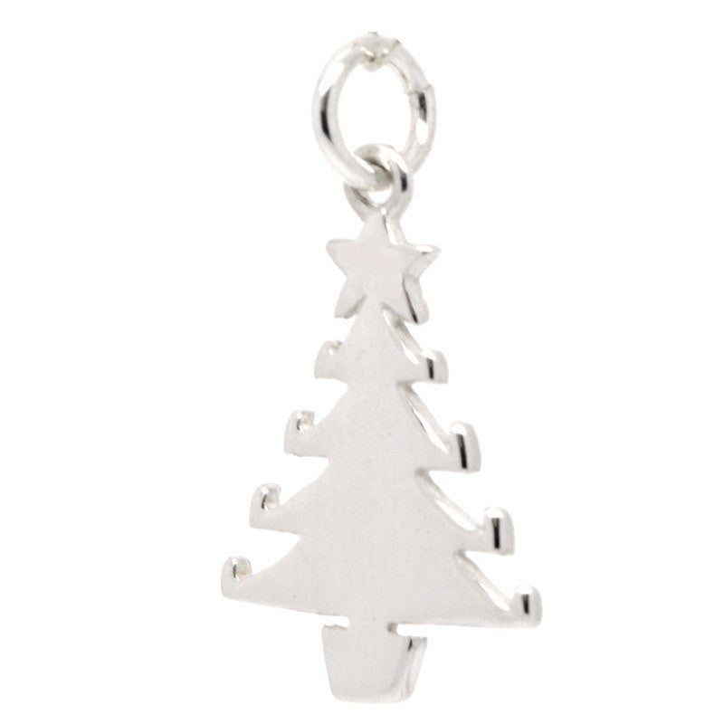 Christmas Tree Charm Silver 9ct Gold 18ct Gold – Perfect Charm - Christmas Tree Charms