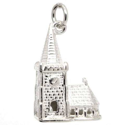 Silver Church With Steeple