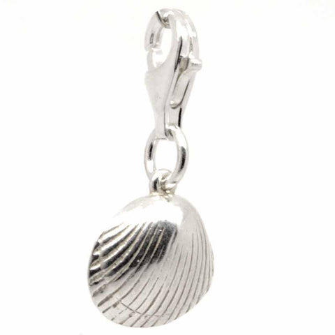 Silver Cockle Shell Charm