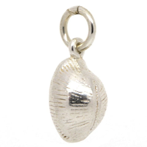Silver Cowrie Shell Charm