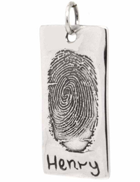 Charm - Dog Tag Pendant Or Key Fob From Ink Print