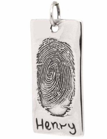 Dog Tag Pendant or Key Fob from ink print