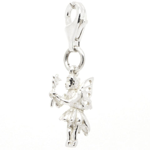 Silver Fairy with Wand Charm
