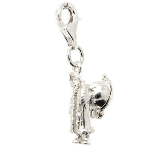 Silver Father Christmas Charm