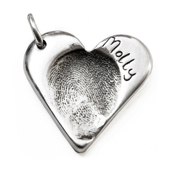 Fingerprint Heart Charm - Perfectcharm - 1