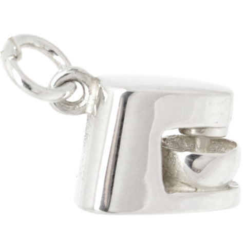 Silver Food mixer Charm