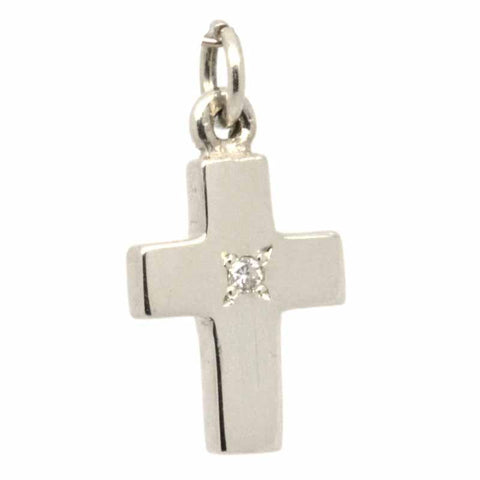 Gold Birthstone Cross Charm