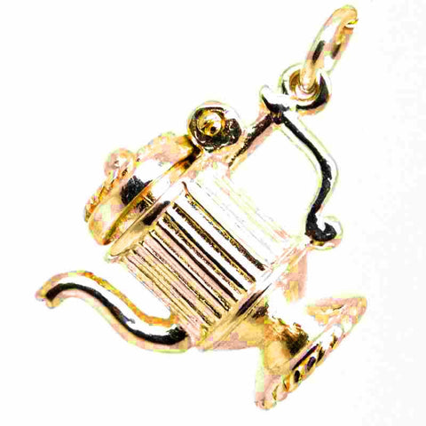 Gold Coffee Pot Charm