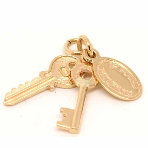 Gold House keys Charm