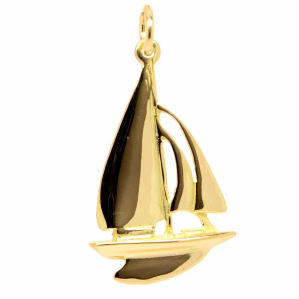 Gold Sailing Boat Yacht Charm - Perfectcharm - 1