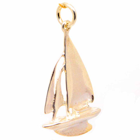 Gold Sailing Boat Yacht Charm