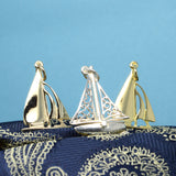 Charm - Gold Sailing Boat Yacht Charm