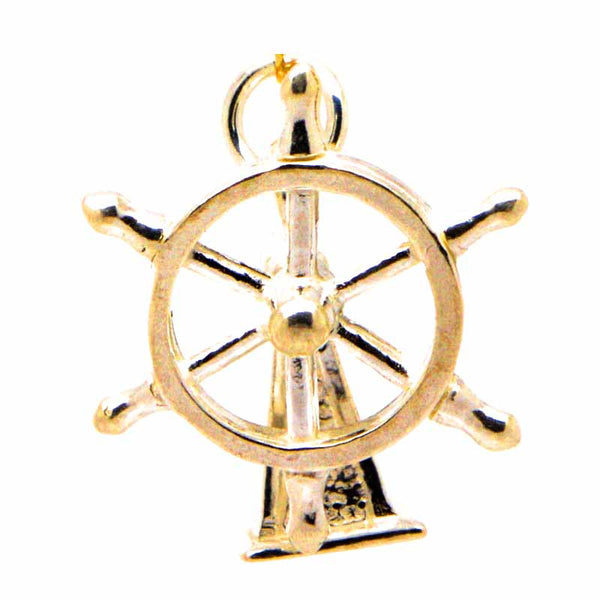 Gold Ship Wheel Charm - Perfectcharm - 1