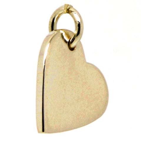 Gold Small Heart Tag Charm