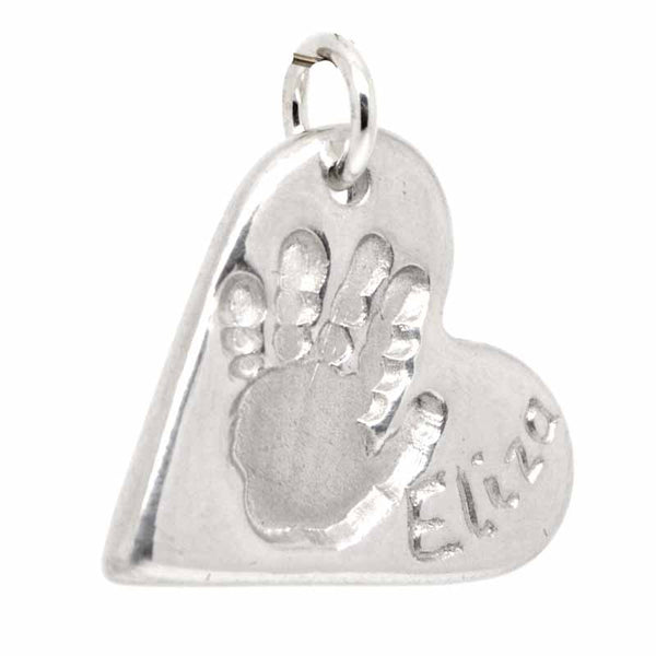 Handprint Heart Charm or Necklace Pendant - Perfectcharm - 1