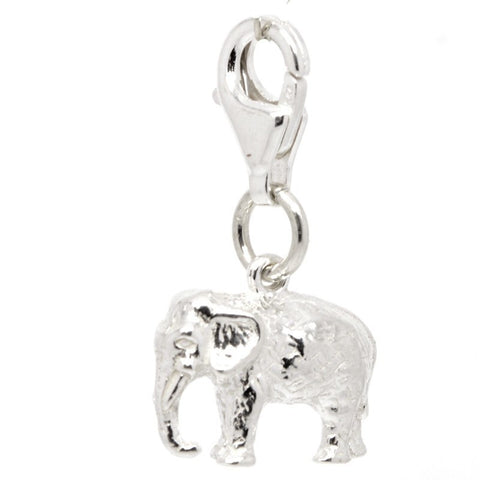 Silver Indian Elephant Charm