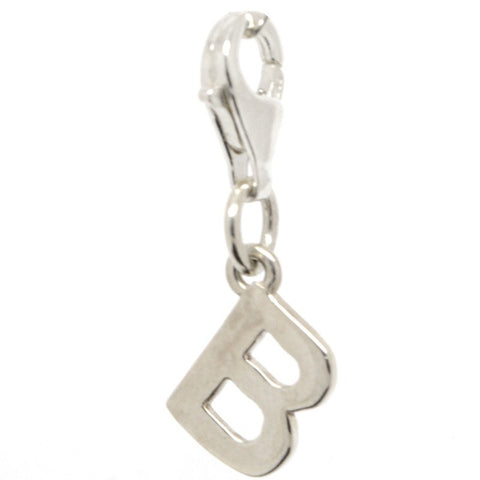 Silver Initial letter B Charm